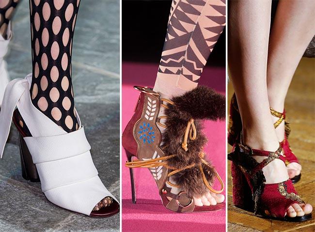 Туфли с открытым носком - тенденции обуви осень/зима 2015-2016