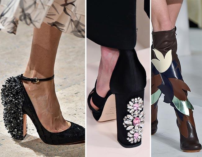 Туфли, украшенные стразами - тенденции обуви осень/зима 2015-2016