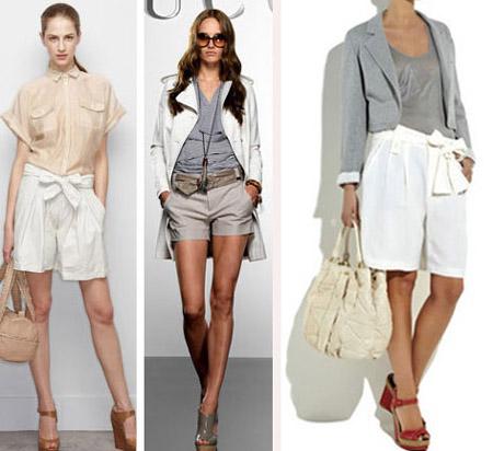 Девушки в классических шортах и топах