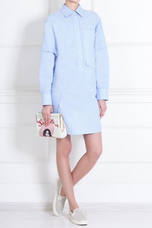 Платье-рубашка и слипоны
