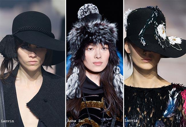 Шляпы с полями и кисточками - модные головные уборы осень/зима 2015-2016
