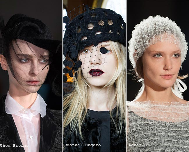 Шляпки из тюля - модные головные уборы осень/зима 2015-2016