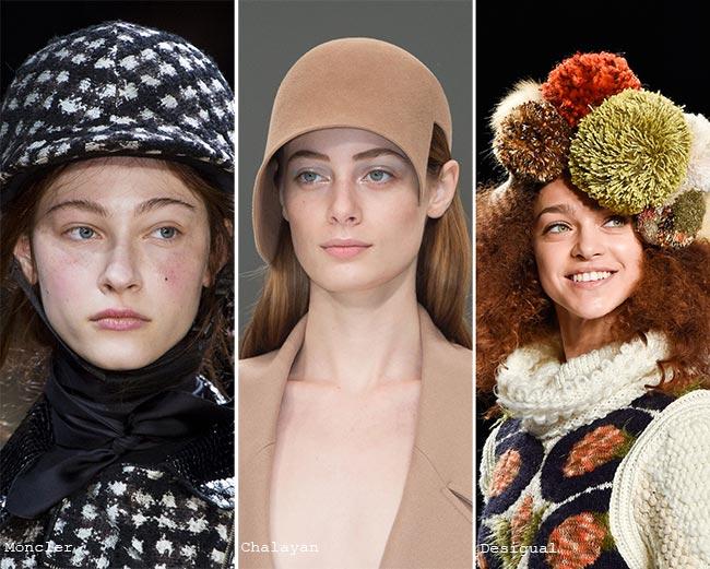 Шляпки с необычным декором - модные головные уборы осень/зима 2015-2016