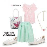 нежный образ, бка миди мятная, розовая блуза больние размеры белые лоферы
