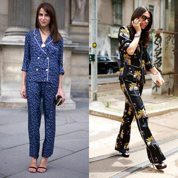 Девушки в невероятно стильных пижамах