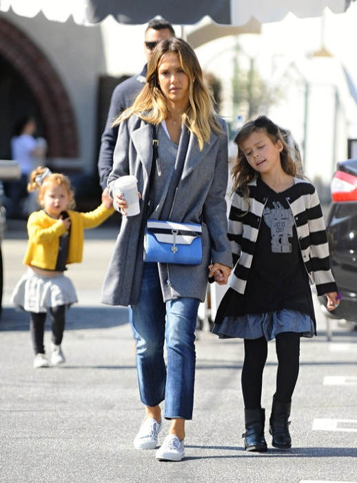 Jessica Alba & Family At Coldwater Park