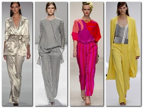 девушки в стильных и ярких пижамах