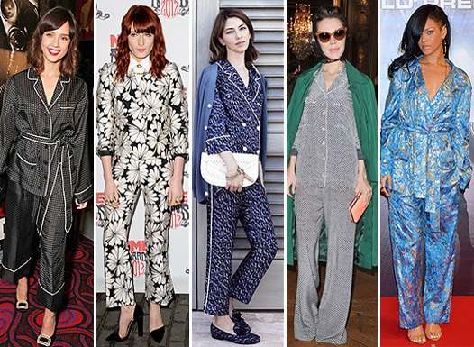 звезды в пижамном стиле