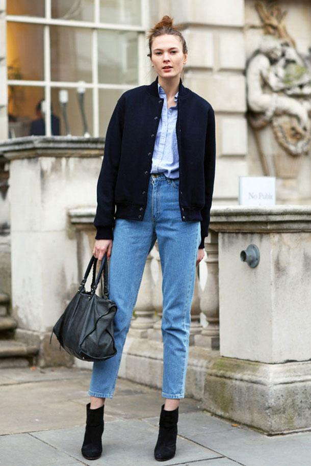 штаны с высокой талией