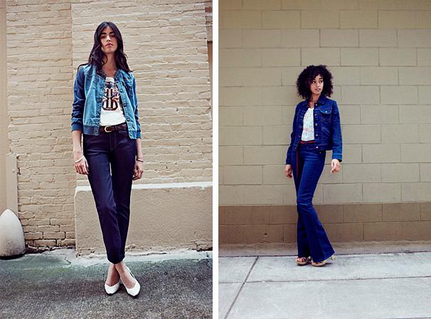 Девушки в джинсовых луках