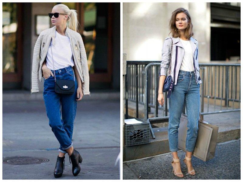 Девушки в мамми-джинсах