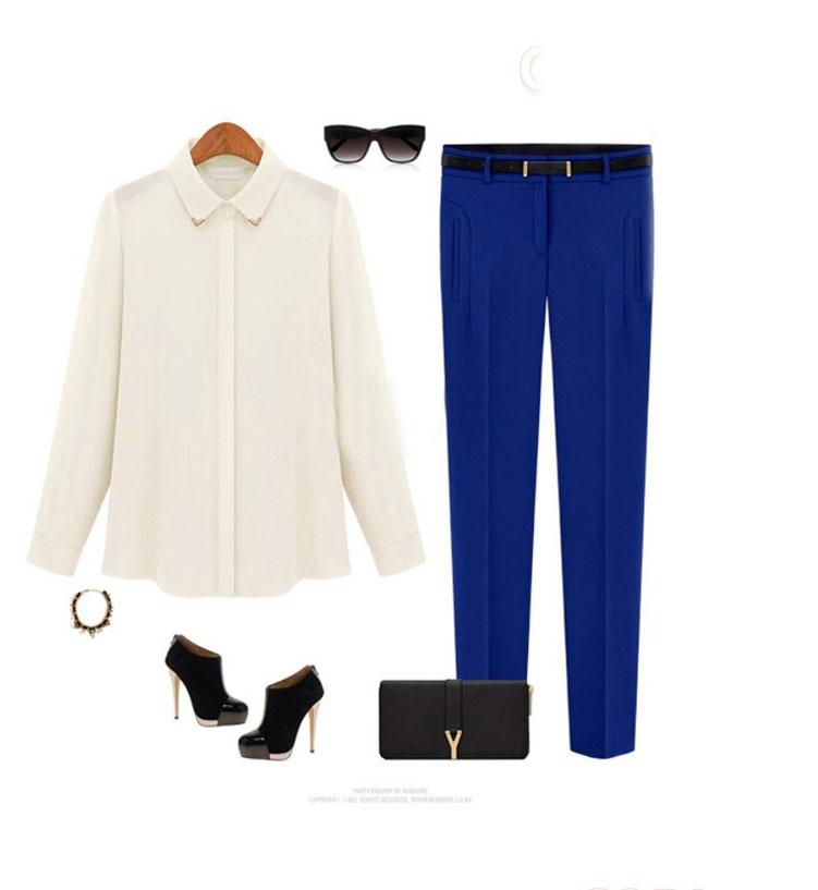 Обувь к синим брюкам