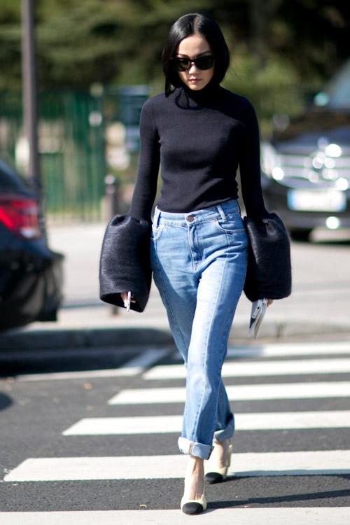 Попробуй закатать джинсы, чтобы показать убийственные туфли