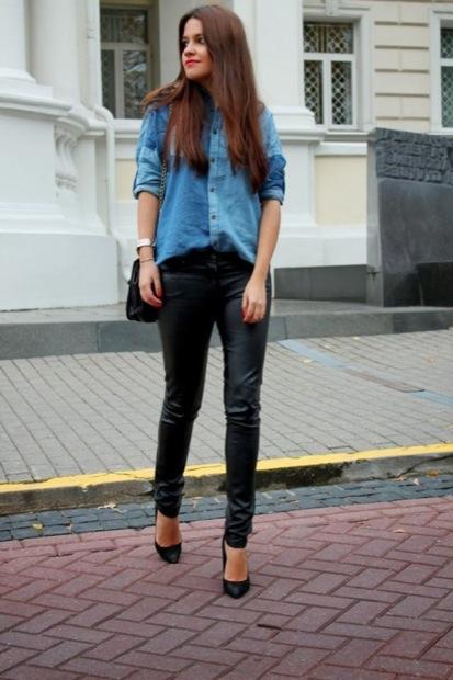 Дама в кожаных штанах фото 42-707