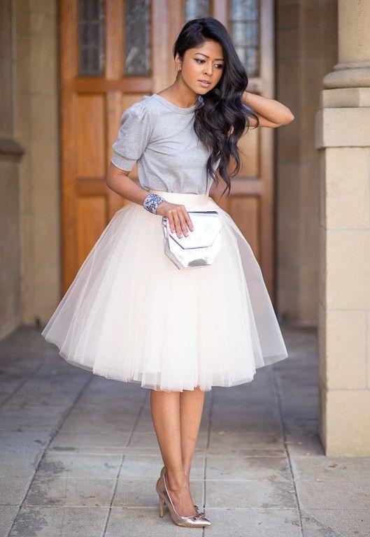 Купить юбку по колено белую