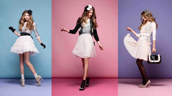 Девушки в пышных мини-платьях в стиле бэби-долл