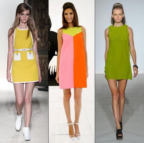 Девушки в ярких платьях в стиле бэби-долл