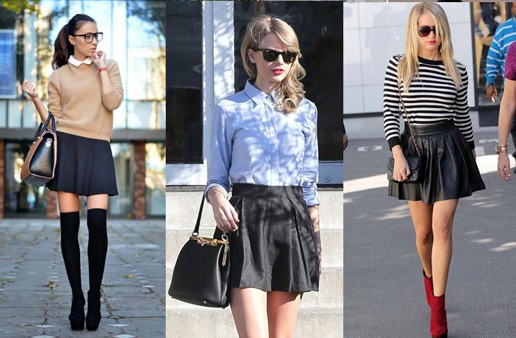С чем носить черную юбку в пир и в мир, фотообзор стильных решений