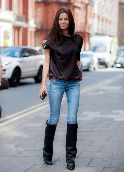 Девушка в джинсах и сапогах фото фото 237-375