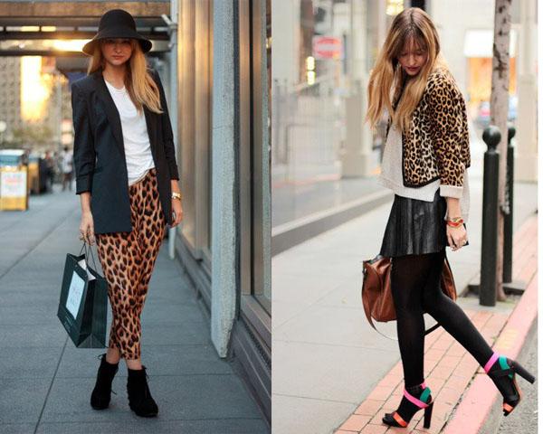 Девушки в вещах с леопардовым принтом
