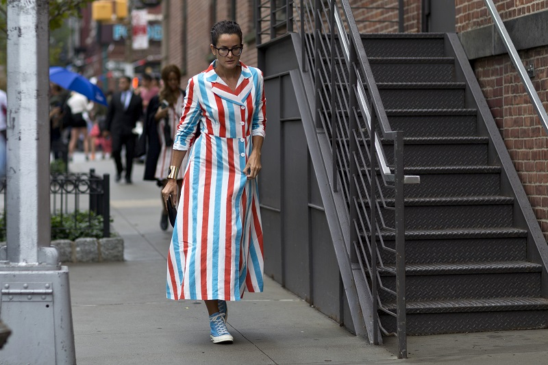 Lucy Chadwick в, пожалуй, самом крутом геометричном платье этого сезона
