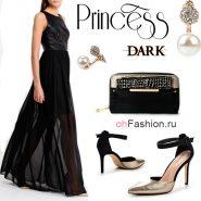 Лук-с-длинным-черным-платьем