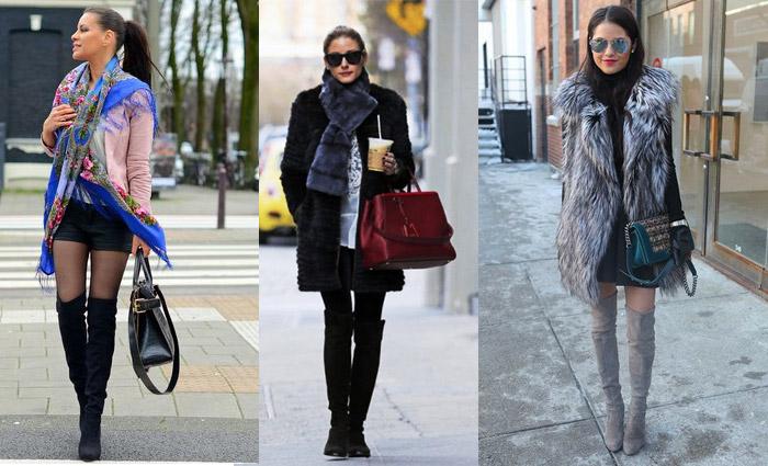 Модные девушки в ботфортах