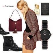 Осенний образ, блейзер сумка замшевая ботинки черные