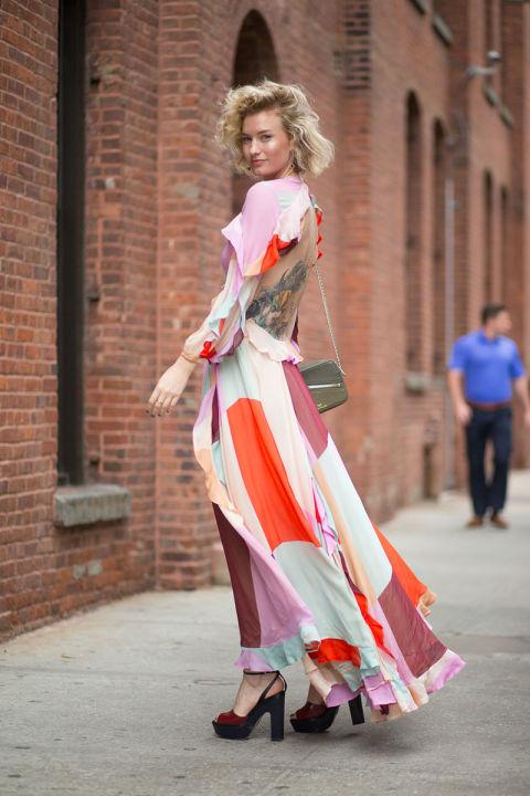 Zanita Washington - королева уличных модниц, использующих вещи с геометрией