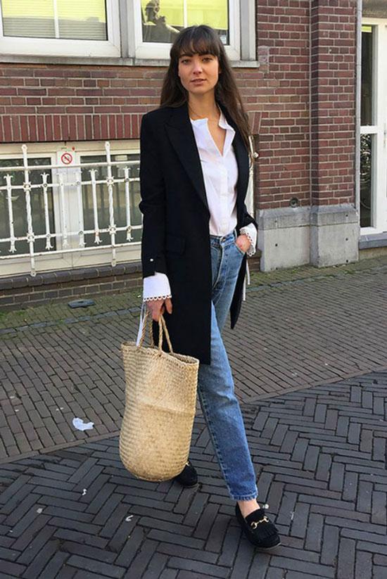 С чем женщинам носить удлиненный жакет
