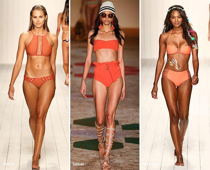 Купальники оранжевого цвета - модные тенденции весна-лето 2016
