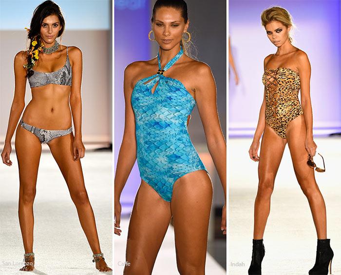 Купальники с анималистичным принтом - модные тенденции весна-лето 2016