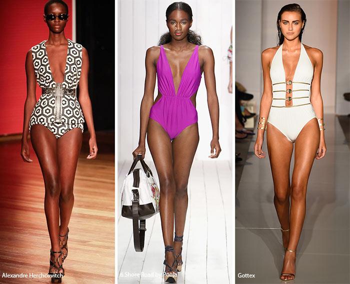 Купальники с глубоким декольте - модные тенденции весна-лето 2016
