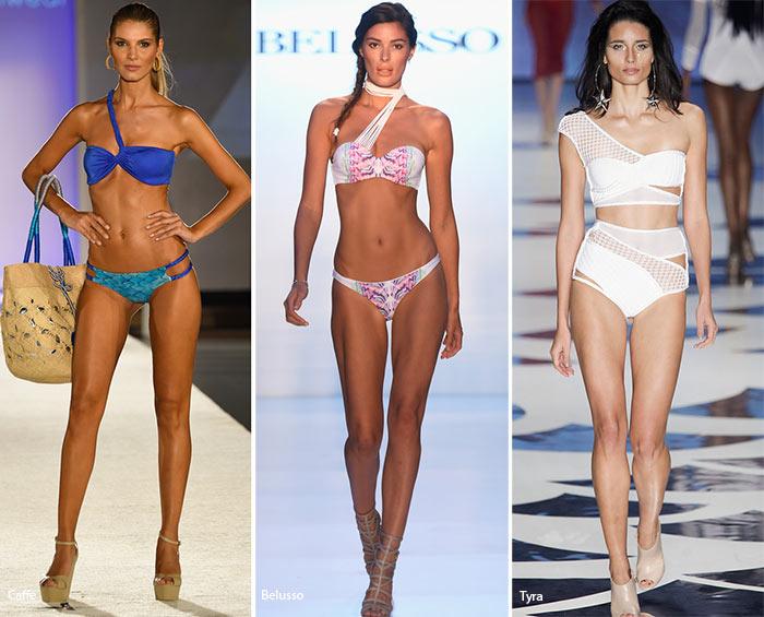 Купальники с лямочкой на одно плечо - модные тенденции весна-лето 2016