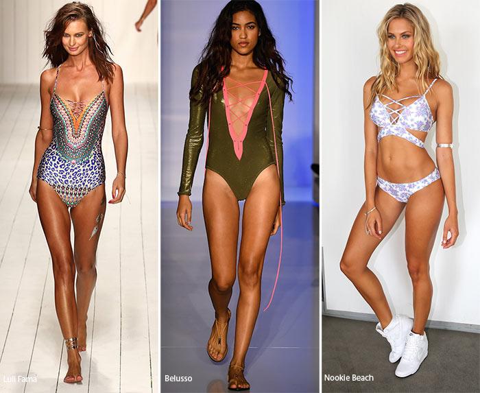Купальники со шнуровкой - модные тенденции весна-лето 2016