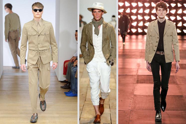Мужчины одеты в стиле сафари