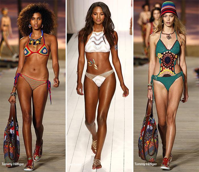 Вязаные купальники - модные тенденции весна-лето 2016