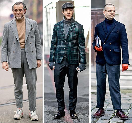 экспериаментальные образы с пиджаком