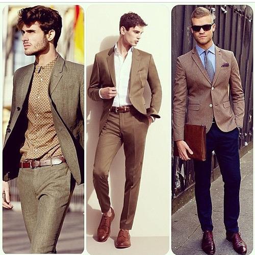 коричневый пиджак трио