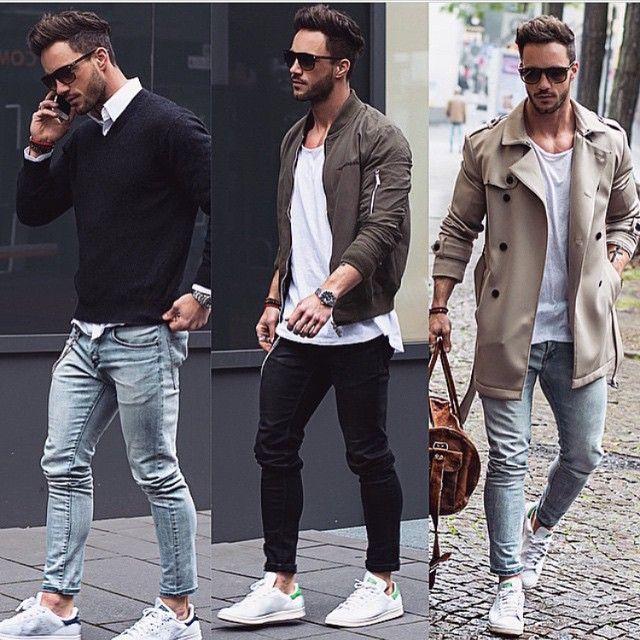 мужчина в трех образах