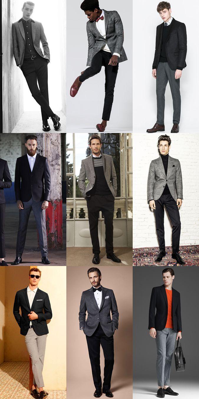 мужчины в классических пиджаках