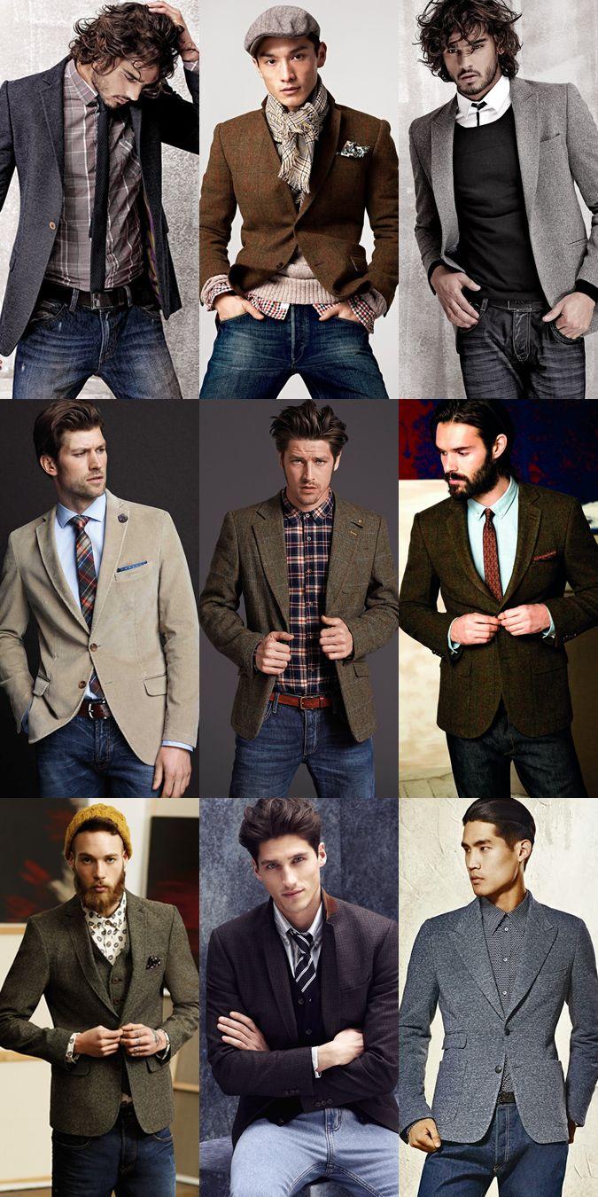 мужчины в пиджаках в стиле casual