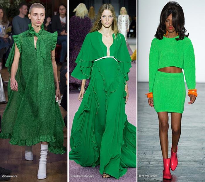 Модный цвет весна/лето 2016 - Зеленая вспышка