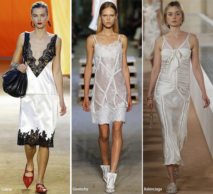 Модели в платьях, ночнушках, - модные тенденции весна-лето 2016