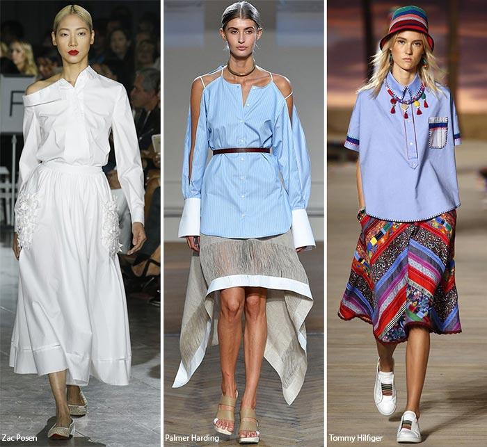 Деконструированные оксфордские рубашки - модные тенденции весна-лето 2016