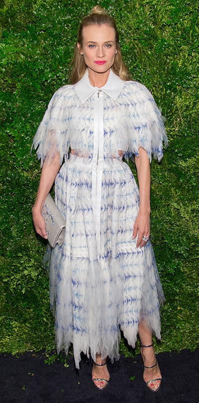 Диана Крюгер в платье от Chanel и босоножках от Giuseppe Zanotti
