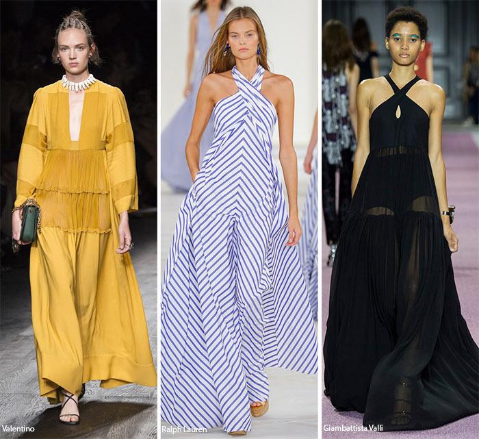 Макси платья и юбки - модные тенденции весна-лето 2016