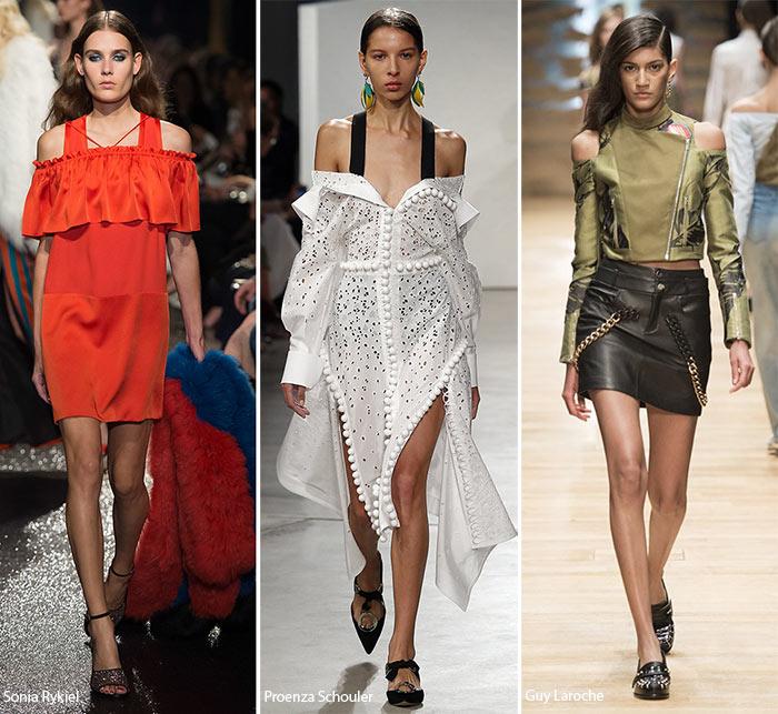 Обнаженные плечи - модные тенденции весна-лето 2016