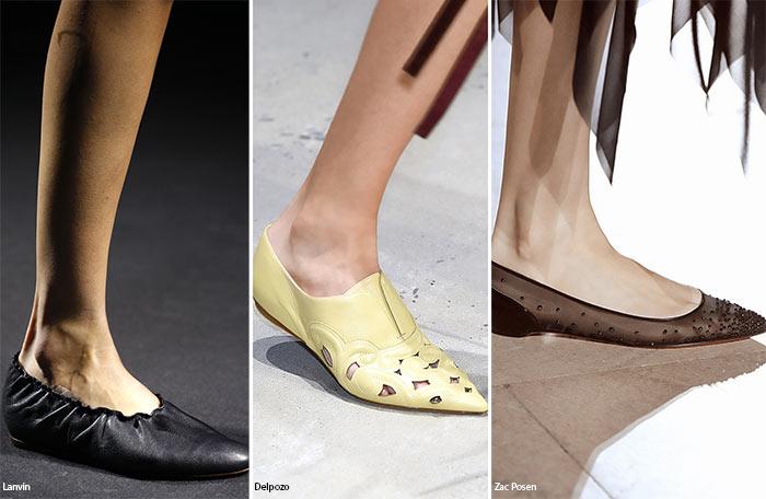 Остроносые балетки - тенденции обуви весна/лето 2016