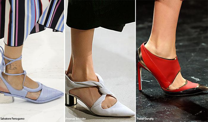 Остроносые босоножки на каблуке - тенденции обуви весна/лето 2016